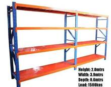 Steel Racking Shelving: Warehouse, Shed, Garage. 3.9x2.0x0.6m NEW Welshpool Canning Area Preview