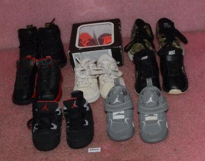 Lot of 8 Infant Shoes Jordan Nike Adidas Vans Sizes 3C 4C 5C 4K Toddler 4.0