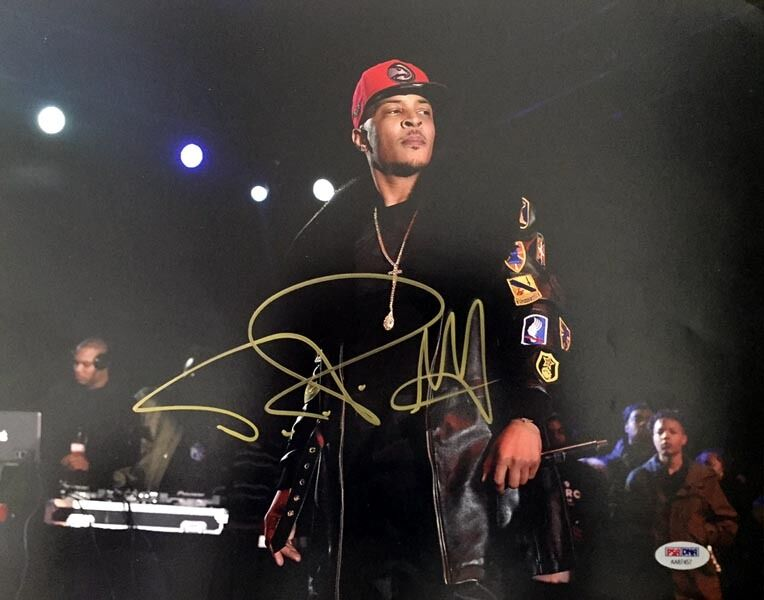 T.I. TI TIP CLIFFORD HARRIS SIGNED AUTOGRAPHED 11x14 PHOTO PSA/DNA - $135.00