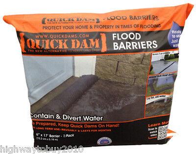"(8) ea Absorbent Prod QD617-1 6"" x 17' Quik Dam Expanding Flood / Water Barriers"