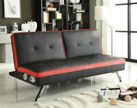 BRAND NEW FURNITURE - BONDED LEATHER KLICK KLACK COUCH SOFA BED
