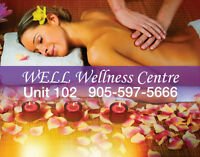 Well Wellness Centre RMT & MASSAGE $50/60mins 905-597-5666