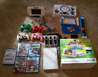 WII U WITH ACCESSORIES FIVE GAMES!!!1