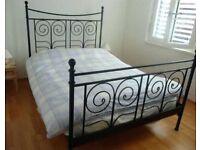 IKEA black metal double bed