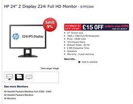 """HP 24"""" Z display. Z24i full HD brand new"""