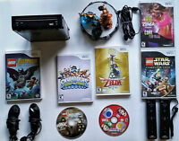 Nintendo Wii with 7 games and accessories including Skylanders
