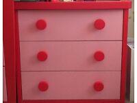 Pink IKEA Mammut Childrens bedroom set wardrobe & drawers for sale