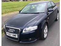 AUDI A4 S/LINE 2.0TDI AUTO,07 FULL HISTORY JUST FULL MAJOR SERVICED,NICE CONDITION,DRIVE FAULTLESS