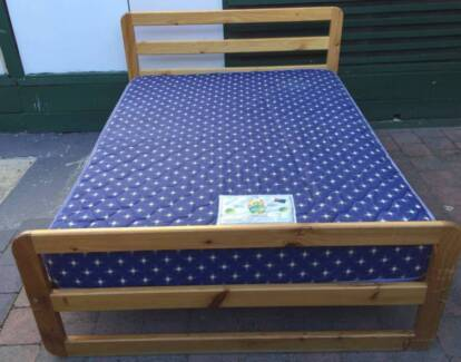 Excellent condition wooden frame double be. Delivery available