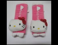 pair Cute HelloKitty auto car Seat belt cover pink
