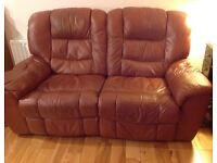 Lovely soft leather sofa REDUCED FOR QUICK SALE