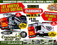 2015 FUZION 416 WITH 16' GARAGE - BLOWOUT PRICING THIS WEEKEND