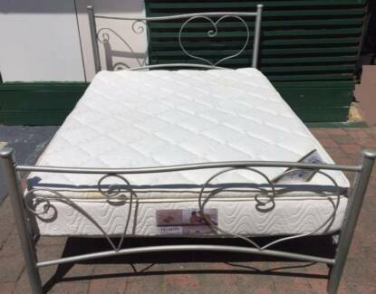 Excellent queen bed metal frame with Pillow Top mattress