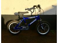 "BOYS MAGNA MOUNTAIN BIKE 16"" WHEELS £25"