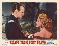 RARE 1953 NEAR MINT WESTERN MOVIE POSTER ESCAPE FROM FORT BRAVO