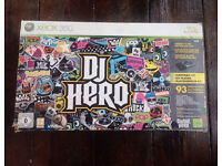 DJ hero Xbox 360 complete turntable and game