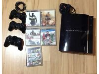 Playstation 3 60gb * 5 games* * 3 controllers*