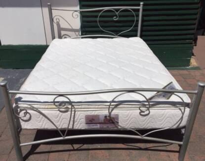 Excellent queen bed metal frame with Pillow Top mattress