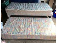 Two single beds in one with two single mattresses day bed two bed guest bed
