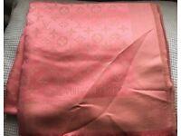 Louis Vuitton scarf 140x140cm peach with gold tread