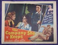 FILM NOIR THE COMPANY SHE KEEPS 1951 LC LIZABETH SCOTT