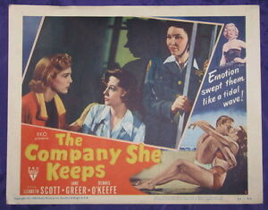 FILM NOIR THE COMPANY SHE KEEPS 1951 LC LIZABETH SCOTT