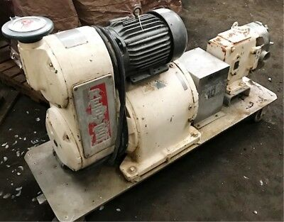 Waukesha Used Port. S.s. Pump Mod 60 Powered By 5 Hp Baldor Motor Item 8707