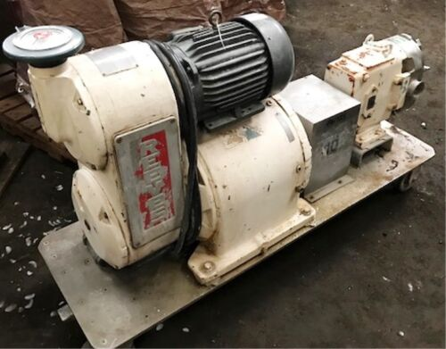 Waukesha Used Port. S.S. Pump Mod #60 powered by 5 HP Baldor Motor Item 8707