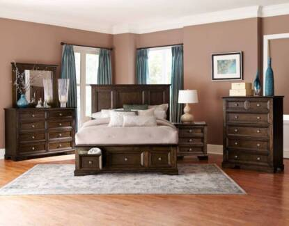 Exciting New Eunice Queen/King Bed Frame With 3 Foot Drawers