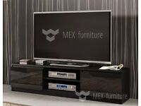 Black gloss matte tv unit cabinet entertainment
