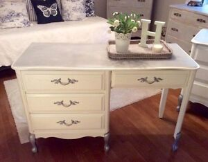 4 piece French style bedroom set - beautifully refinished