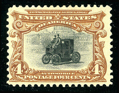 US Scott #296 Pan-American Expo (1901) Electric Automobile 4¢ MH ***FREE SHIP***