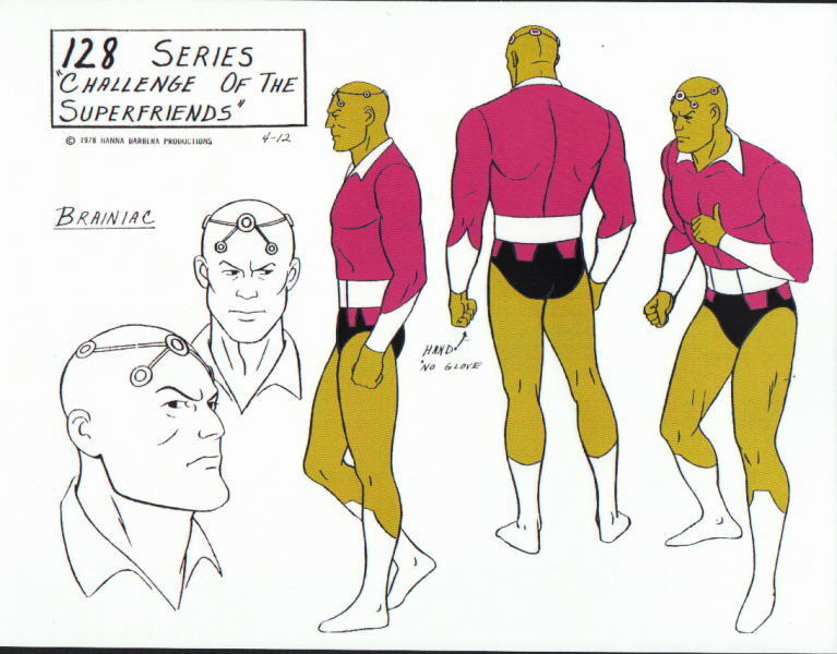 CHALLENGE Of The SUPER FRIENDS : BRAINIAC MODEL SHEET Superman DC ALEX TOTH