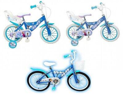 12 14 16 20 Zoll Mädchenfahrrad Kinderfahrrad Fahrrad Frozen Disney Eiskönigin  ()