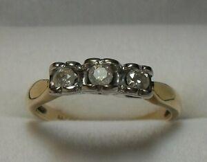 "10kt Diamond ""Trinity"" Engagement or Anniversary Ring - Size 7.5"