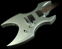 ESP AX-50 LTD / SILVER SATIN / GREAT CONDITION / WITH AMPLIFIER