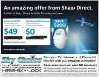 ShawDirect & SkyChoice, Hamilton's best value for TV + Internet!