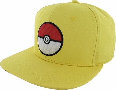 Authentic Pokemon Poke Ball Snapback Hat  Red/Blue/Yellow colours