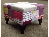 The Dibley Patchwork Footstools