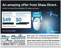 An amazing Satellite TV and Internet offer for Peel Region