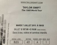 billet pour taylor swift