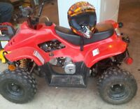 Kids 50cc Atv and Helmet
