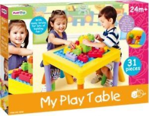 NEW: PLAYGO My Play Table' With 2 Stools(Reversible table top)-