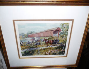 """Peter Etril Snyder """"Cattle By The Covered Bridge"""" Signed/Numbere Stratford Kitchener Area image 1"""