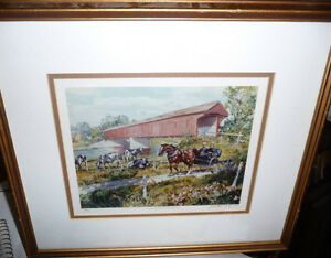 "Peter Etril Snyder ""Cattle By The Covered Bridge"" Signed/Numbere"