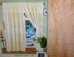 Peach color lace  curtain lowest price, brand new