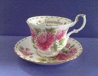"Royal Albert ""Chrysanthemum"" Flower of the Month Teacup"