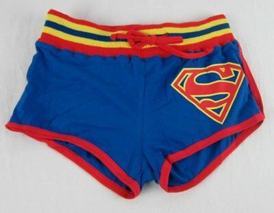 Dc Womens Shorts (Womens Juniors NWT DC Comics Superman Drawstring Booty Shorts Size M Medium)