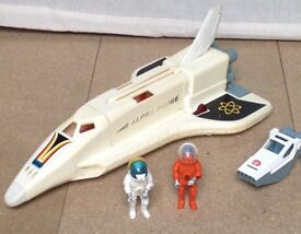 VINTAGE FISHER PRICE 1980's ALPHA INTERCEPTOR SPACE VEHICLE AND MAN