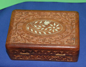 Wooden Mother of Pearl Inlay Box